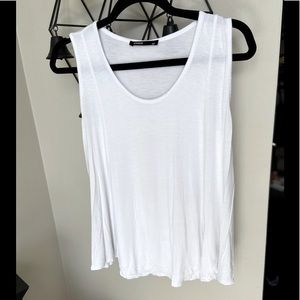 (4/$14) Studio   White Flow Tank